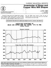 Current Industrial Reports: Inventories of brass and copper wire mill shapes. 1980-1983. M33K