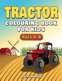 Tractor Colouring Book For Kids Ages 4-8