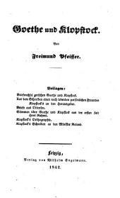 Goethe und Klopstock von Freimund Pfeiffer
