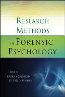 Research Methods in Forensic Psychology PDF