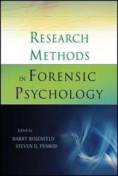 Research Methods In Forensic Psychology Book PDF