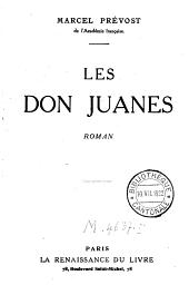 Les Don Juanes: roman