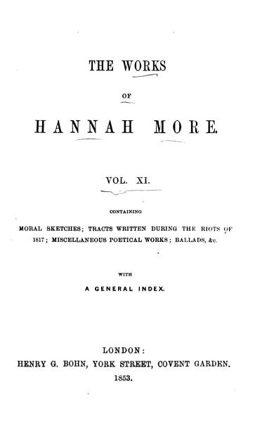 Download The Works of Hannah More  Moral sketches  tracts  etc  Index Book