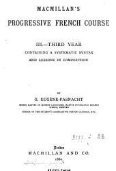 Macmillan's progressive French course. iii, Third year