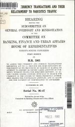 Patterns of Currency Transactions and Their Relationship to Narcotics Traffic
