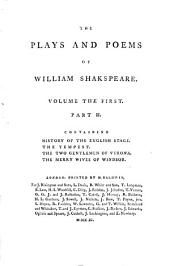 The Plays and Poems of William Shakspeare: pt. 2. Historical account of the English stage. Emendations and additions. Tempest. Two gentlemen of Verona