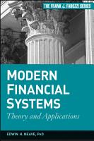 Modern Financial Systems PDF