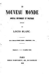 Nouveau monde: journal historique et politique, Volume1