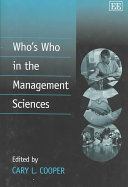 Who's who in the Management Sciences