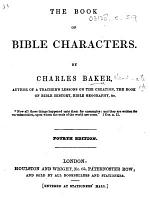 The Book of Bible Characters ... Fourth Edition