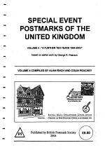 SPECIAL EVENT POSTMARKS OF THE UNITED KINGDOM VOLUME 4