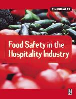 Food Safety in the Hospitality Industry PDF