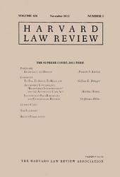Harvard Law Review: Volume 126, Number 1 - November 2012