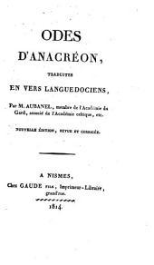 Odes d'Anacréon, tr. en vers languedociens par m. Aubanel