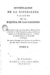 Investigacion de la naturaleza y causas de la riqueza de las naciones, 1