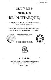 Oeuvres morales de Plutarque: Volume3