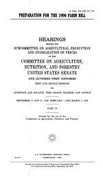 Preparation for the 1990 Farm Bill