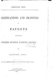 Specifications And Drawings Of Patents Issued From The U S Patent Office Book PDF