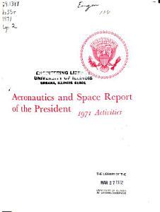 Aeronautics and Space Report of the President PDF