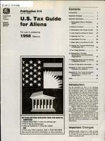 U S  Tax Guide for Aliens PDF