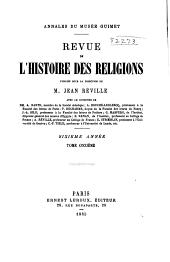 Revue de l'histoire des religions: Volume6;Volumes11à12
