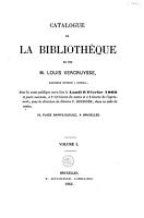 Catalogue de la biblioth  que de feu M  Louis Vercruysse  bibliophile distingu      Courtrai PDF