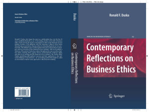 Contemporary Reflections on Business Ethics PDF