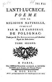 L'Anti-Lucrèce, poëme sur la religion naturelle: Volume2