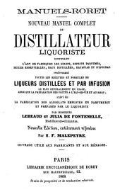 Nouveau manuel complet du distillateur liquoriste ...
