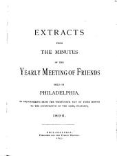 Extracts from the Minutes of the Yearly Meeting of Friends