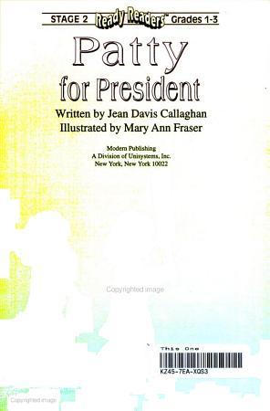 Patty for President PDF