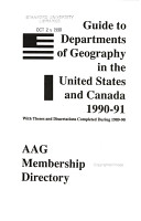 Guide to Departments of Geography in the United States and Canada PDF
