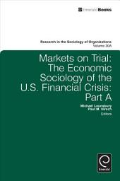 Markets on Trial: The Economic Sociology of the U.S. Financial Crisis, Volume 1