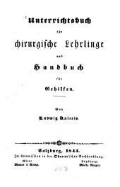 Unterricht für chirurgische Lehrlinge und Handbuch für Gehilfen