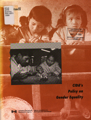 CIDA s Policy on Gender Equality