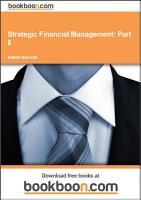 Strategic Financial Management  Part II PDF
