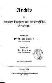 Archiv für gemeines deutsches und für preußisches Strafrecht: Band 4
