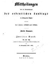 Mitteilungen über die Verhandlungen des Ordentlichen Landtags im Königreiche Sachsen: Band 2