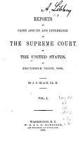 Reports of Cases Argued and Adjudged in the Supreme Court of the United States PDF
