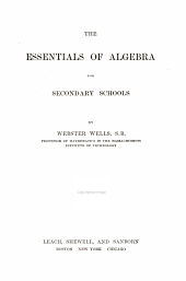 Essentials of Algebra for Secondary Schools
