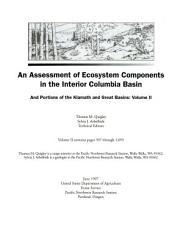An Assessment Of Ecosystem Components In The Interior Columbia Basin And Portions Of The Klamath And Great Basins Book PDF