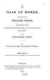 The Iliad, tr. into Engl. prose; with notes, by a graduate of the University of Oxford [H.P.].