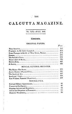 Calcutta Magazine and Monthly Register PDF