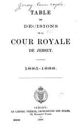 Table des décisions de la Cour royale de Jersey