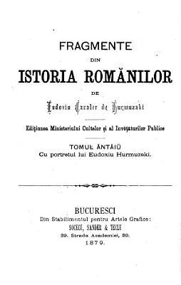 Fragmente din istoria Rom  nilor PDF