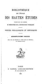 Essai sur les origines du fonds grec de l'Escurial: épisode de l'histoire de la renaissance des lettres en Espagne, par Charles Graux