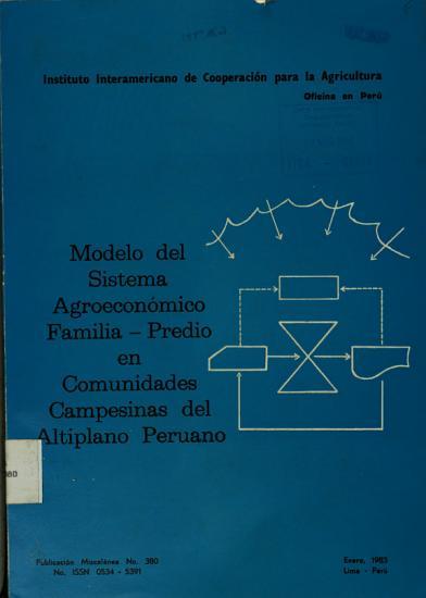 Modelo Del Sistema Agroeconomico Familia predio en Comunidades Campesinas Del Altiplano Peruano PDF