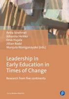 Leadership in Early Education in Times of Change PDF