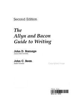 The Allyn and Bacon Guide to Writing PDF
