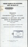 Oversight Hearing on the Occupational Safety and Health Act PDF